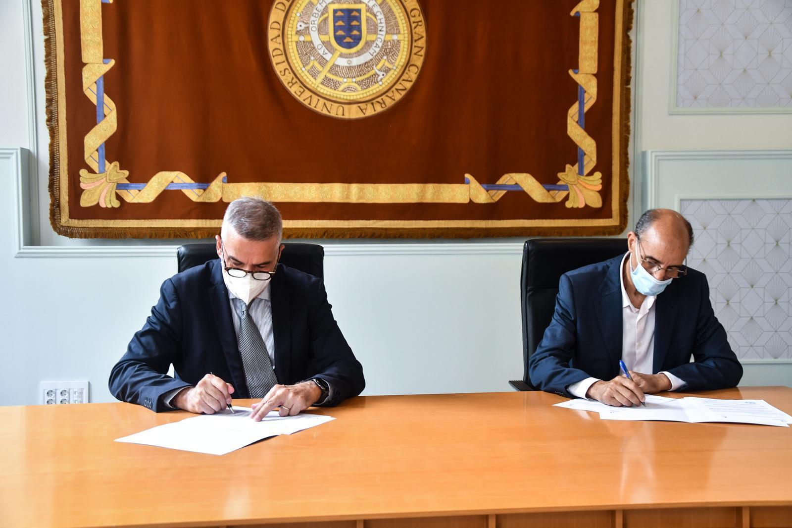 جامعة التفاريتي الصحراوية توقع اتفاقية تعاون مع جامعة لاس بالماس دي غران كناريا