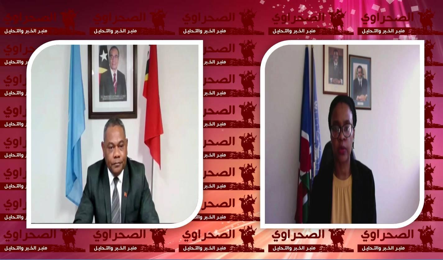 ناميبيا وتيمور الشرقية تطالبان مفوضة الأمم المتحدة لحقوق الإنسان إطلاع المجلس بإنتظام على الوضع في الصحراء الغربية