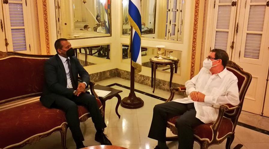 ممثل الجبهة بالأمم المتحدة يلتقي وزير الخارجية الكوبي ويسلمه رسالة من رئيس الجمهورية إلى نظيره الكوبي