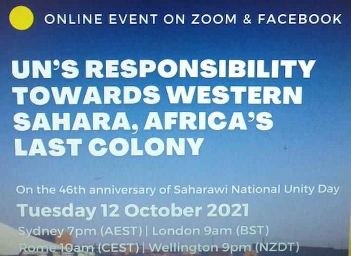 ندوة دولية حول مسؤولية الأمم المتحدة تجاه القضية الصحراوية باستراليا