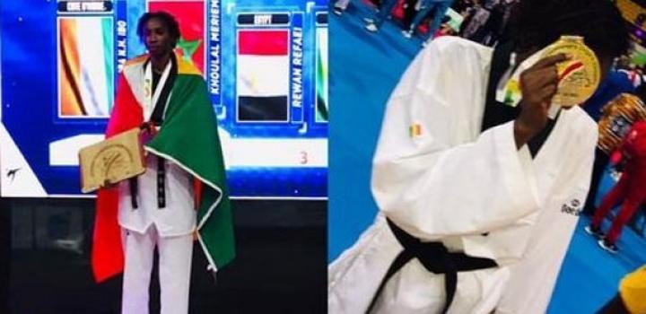 Championnats d'Afrique de Taekwondo : Voici Yacine Diaw, l'étudiante qui a sauvé l'honneur