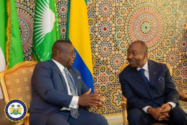President Bio ends three-day visit to Gabon