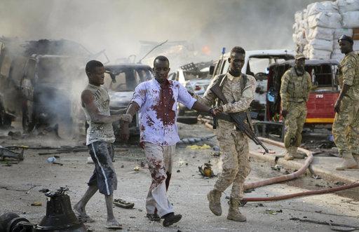 مشاهد من الهجوم الدموي في مقديشو