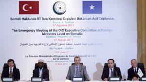 اجتماع طارئ على المستوى الوزاري للجنة التنفيذية لمنظمة التعاون الإسلامي في إسطنبول لمناقشة الوضع الإنساني المتدهور في الصومال 2011 (رويترز)