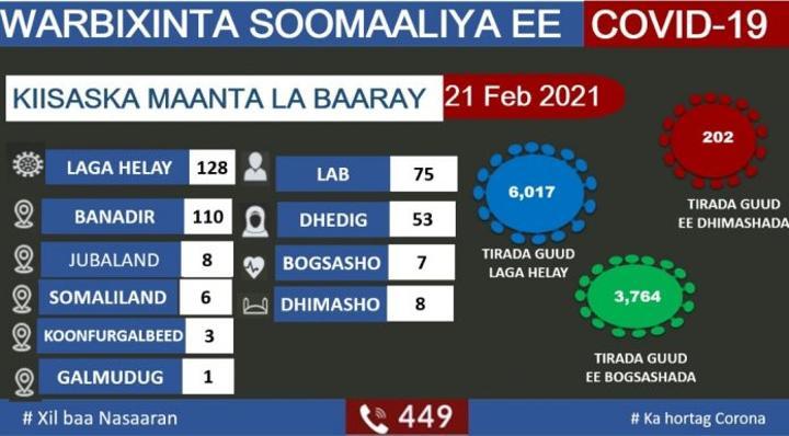 وزارة الصحة تعلن تسجيل 128 حالة جديدة بفيروس كورونا