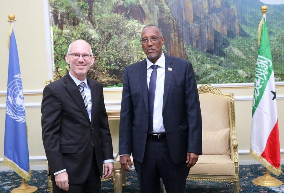 أرض الصومال والأمم المتحدة تبحثان عن طريقة للتعاون وتجاوز الخلاف بينهما