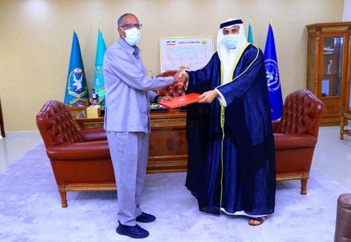 رئيس أرض الصومال يتسلم أوراق اعتماد مدير المكتب التجاري الإماراتي في أرض الصومال