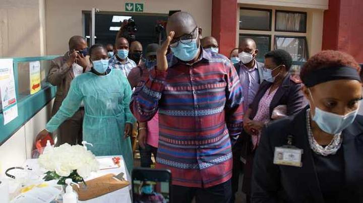 Covid-19 vaccine for Tshwane healthcare workers at Steve Biko hospital