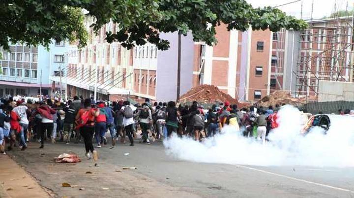Fake message adds fuel to the fire as violent protest rocks DUT