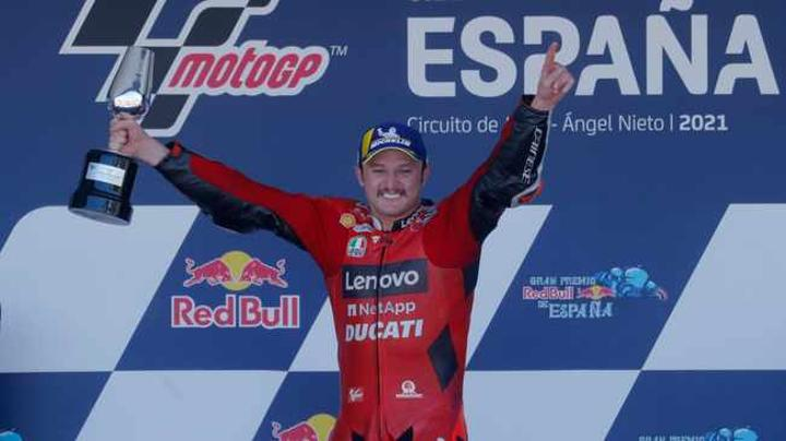 Jack Miller cruises to Spanish GP win in Ducati one-two, SA's Brad Binder crashes out