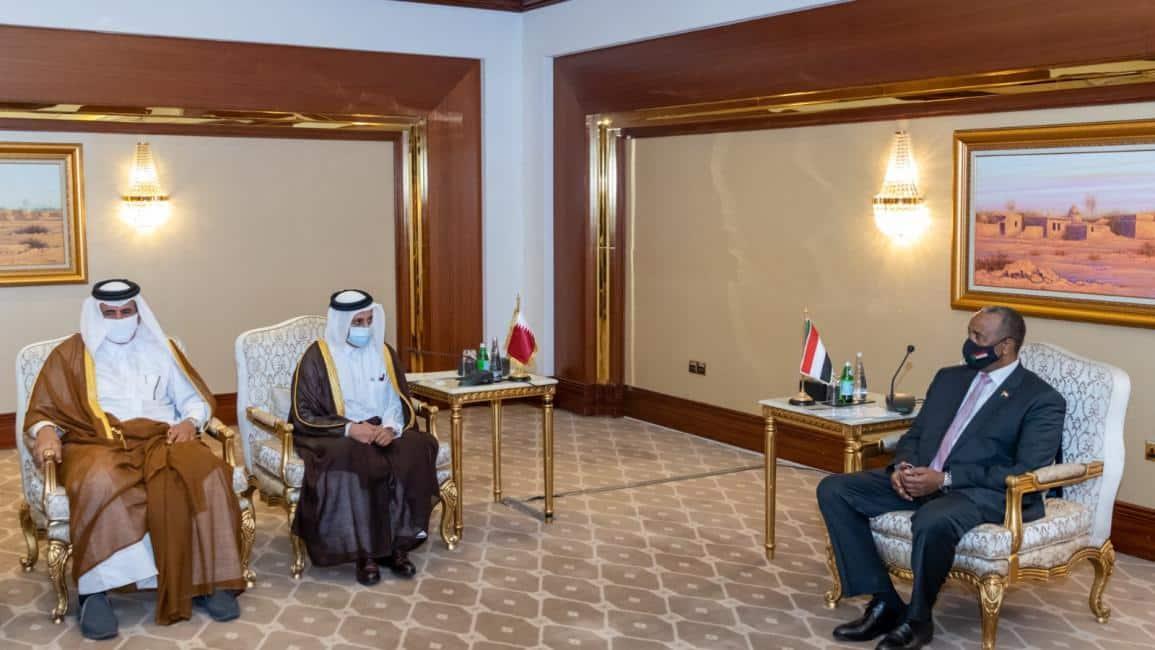 البرهان يدعو رجال الأعمال القطريين إلى الاستثمار في السودان