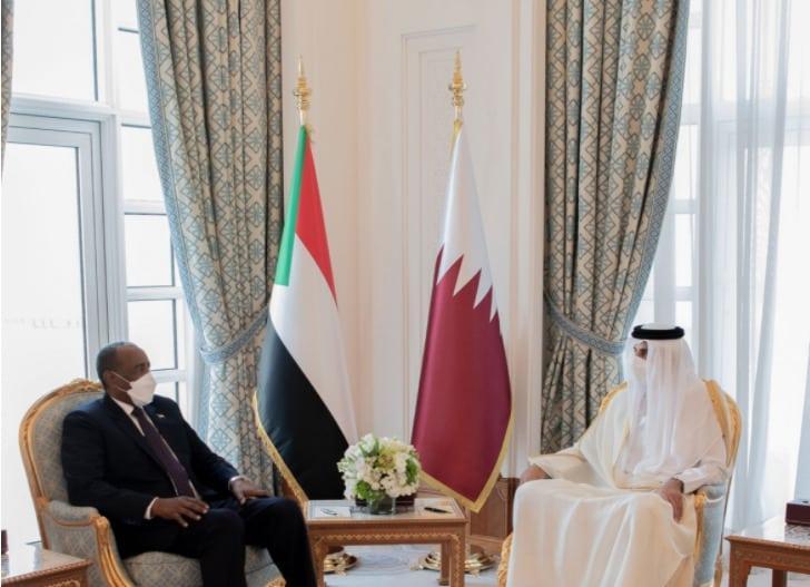 بدء جلسة مباحثات بين البرهان وأمير قطر