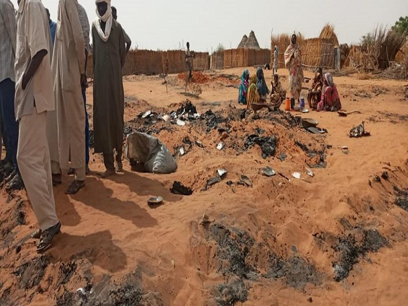 حريق هائل يشرد العشرات من الأسر بالفاشر