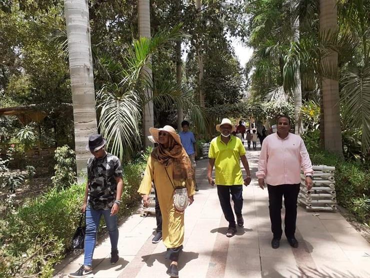 بالصور.. وزيرة الخارجية السودانية تزور الحديقة النباتية في أسوان