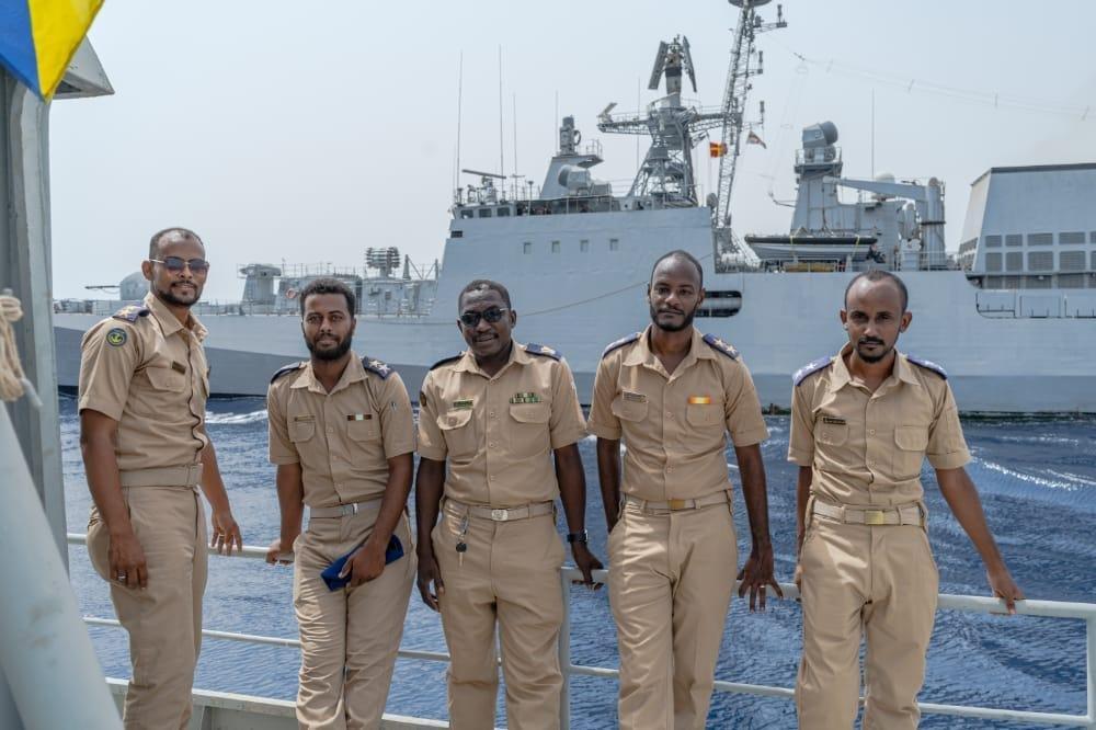 """تدريب بحري """"عابر"""" بين السودان والهند"""