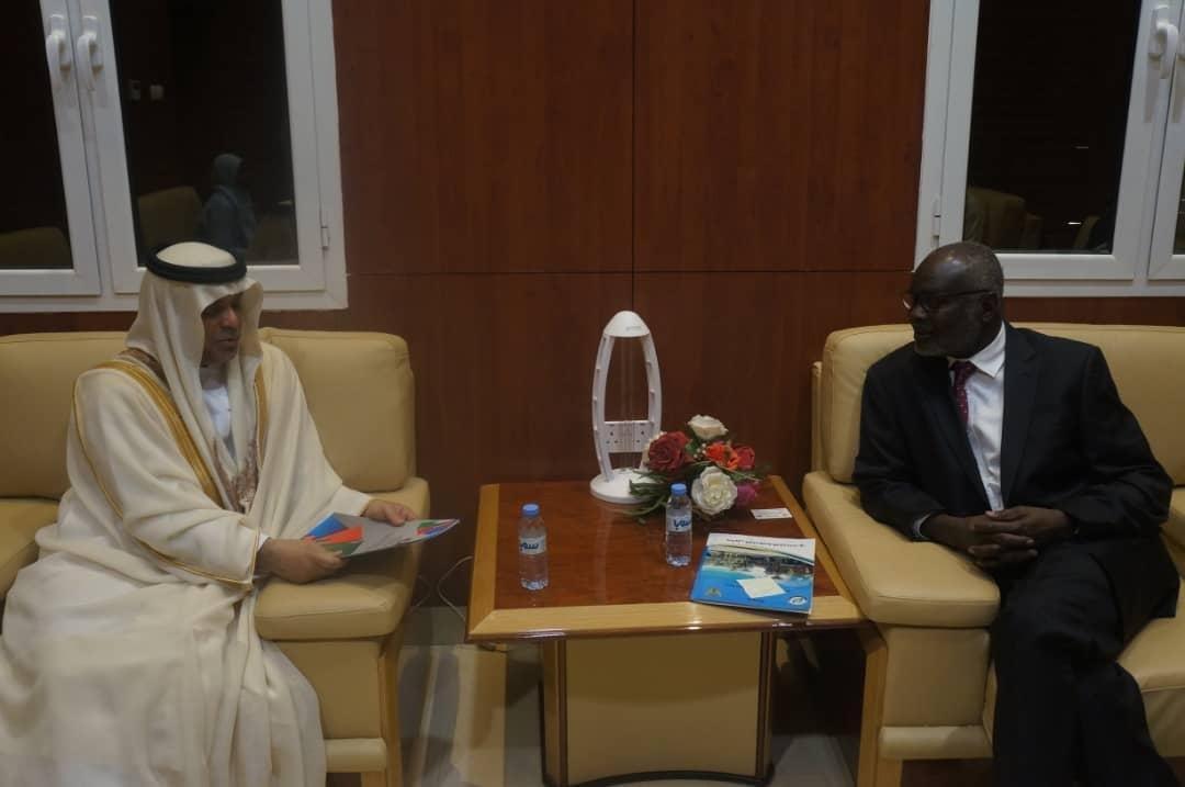 وزير المالية يعد بحل مشكلة بواخر إماراتية محملة بالدواء بميناء بورتسودان