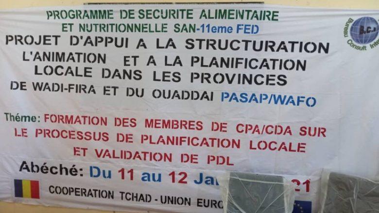 Tchad : un atelier de renforcement de capacités de acteurs locaux est organisé à Abéché