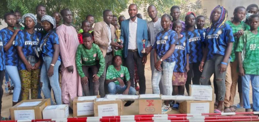 l'équipe de football Étoile d'Afrique de Walia reçoit une panoplie d'équipements