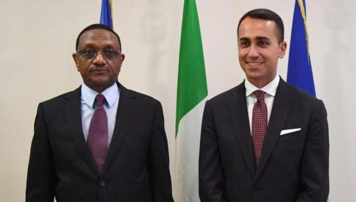 Tchad-Italie : Chérif Mahamat Zène et Luigi Di Maio échangent sur des sujets d'intérêt commun entre les deux pays