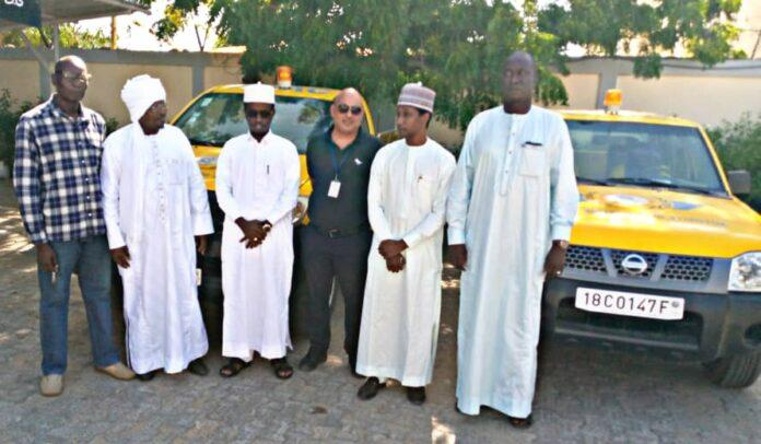 l'ADAC remet deux véhicules aux aéroports d'Abéché et de Moundou