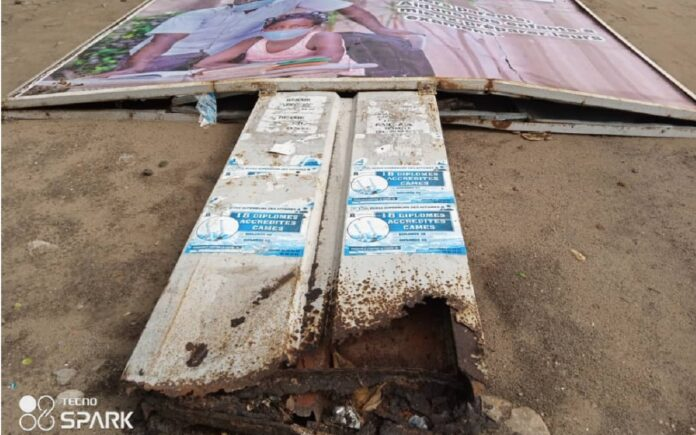 Togo-Panneaux menaçants à Aného : La mairie fait le ménage