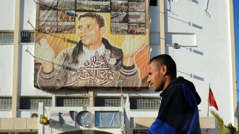 تونس تحتفل بالذكرى التاسعة للثورة - صورة محمد البوعزيزي