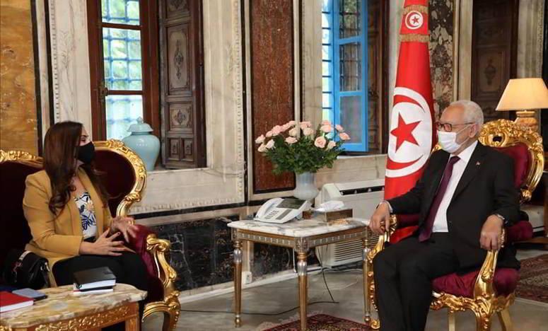 الغنوشي يتحادث مع رئيسة نقابة القضاة التونسيين ومع رئيس جمعية القضاة التونسيين