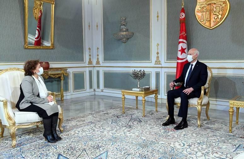 رئيس الجمهورية يستقبل سهام بن سدرين .