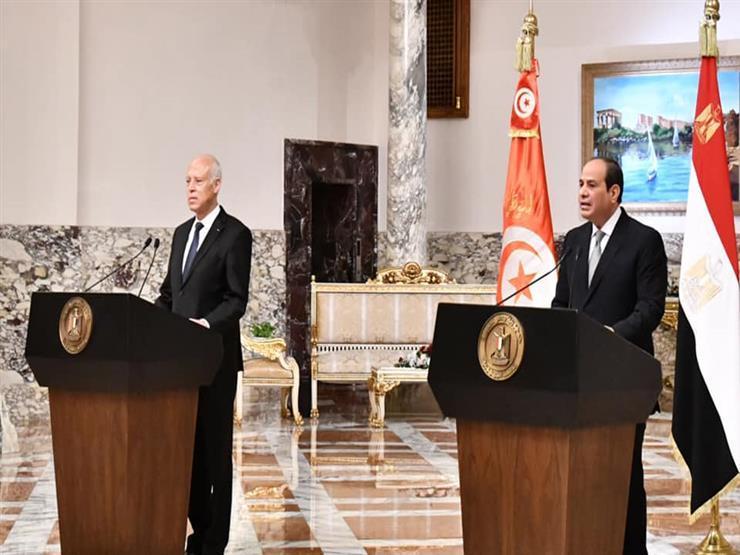 الرئيسان السيسي وسعيّد يبحثان القضايا ذات الاهتمام المتبادل -صور