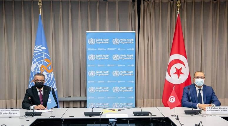 في لقاء المشيشي بمدير منظمة الصحة: الاتفاق على ارسال نحو 600 الف جرعة لقاح الى تونس قبل موفى 2021