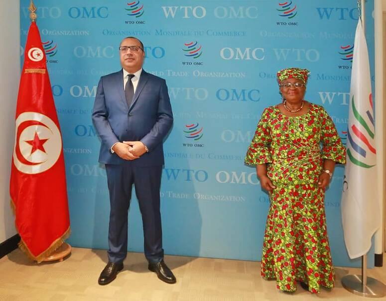 رئيس الحكومة و المدير العام لمنظمة التجارة العالمية يتباحثان حصول تونس على براءة تصنيع تلقيح كوفيد