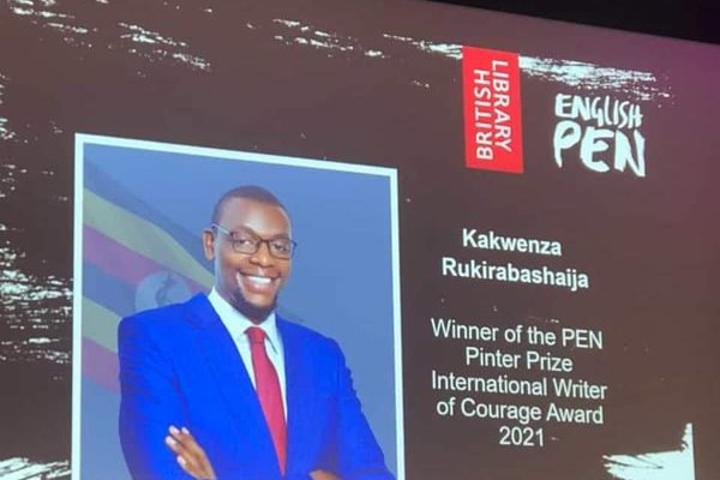 Kakwenza named this year's International Writer of Courage