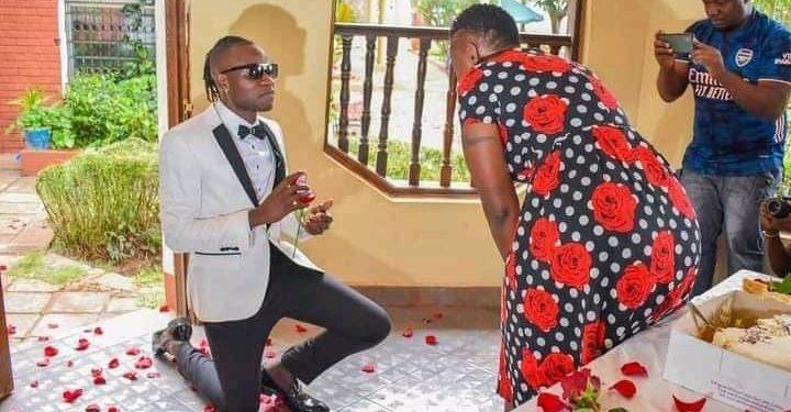Kenyan gospel singer Guardian Angel, 31 proposes to 51-year-old girlfriend on her birthday