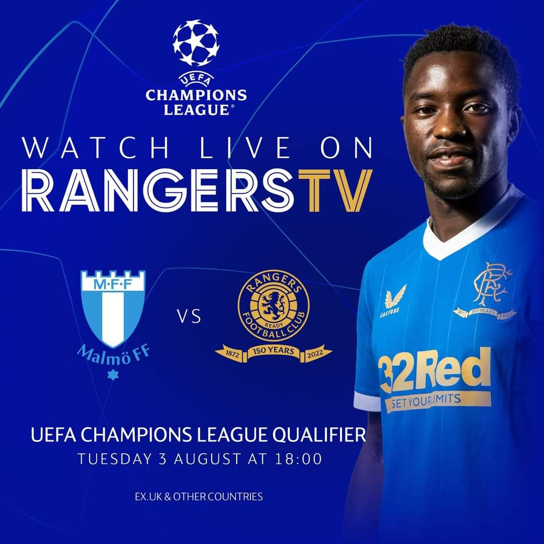 Fashion Sakala To Lead Rangers' Attack In UEFA Champions League Qualifier Against Swedish Champions