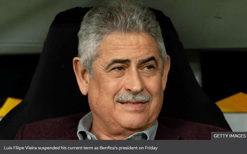 HOUSE ARREST ORDER FOR BENFICA FOOTBALL CLUB CHIEF