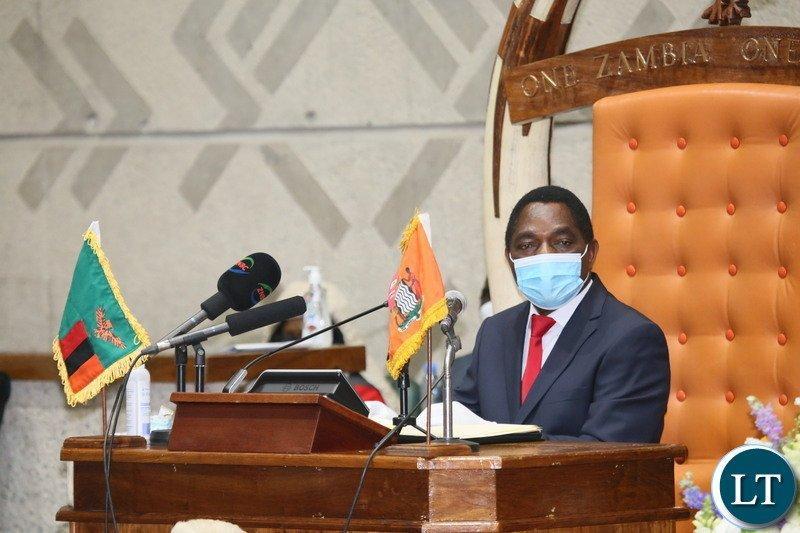 President Hakainde Hichilema's Full Speech at the Opening of Parliament