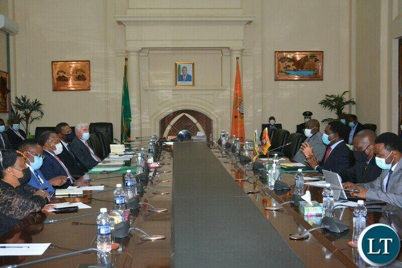 President Hichilema confers with SA former President Motlanthe
