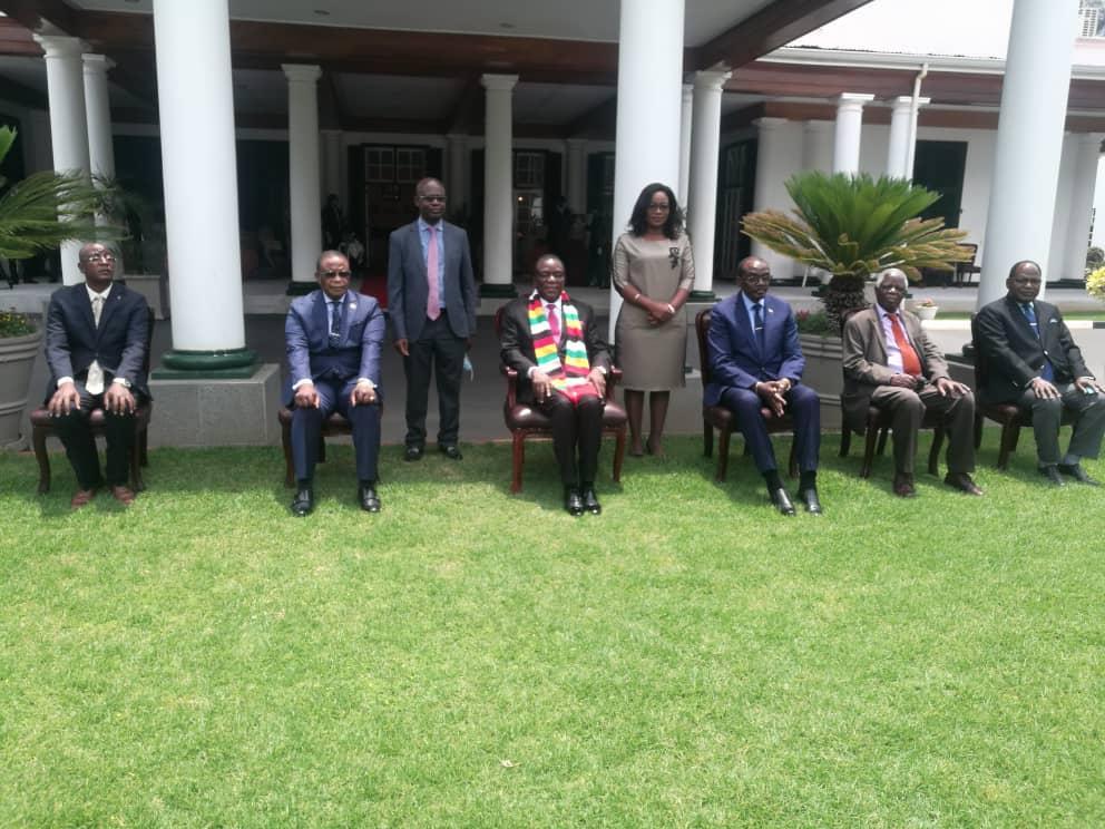 President Mnangagwa Swears In Justice Ndewere Tribunal