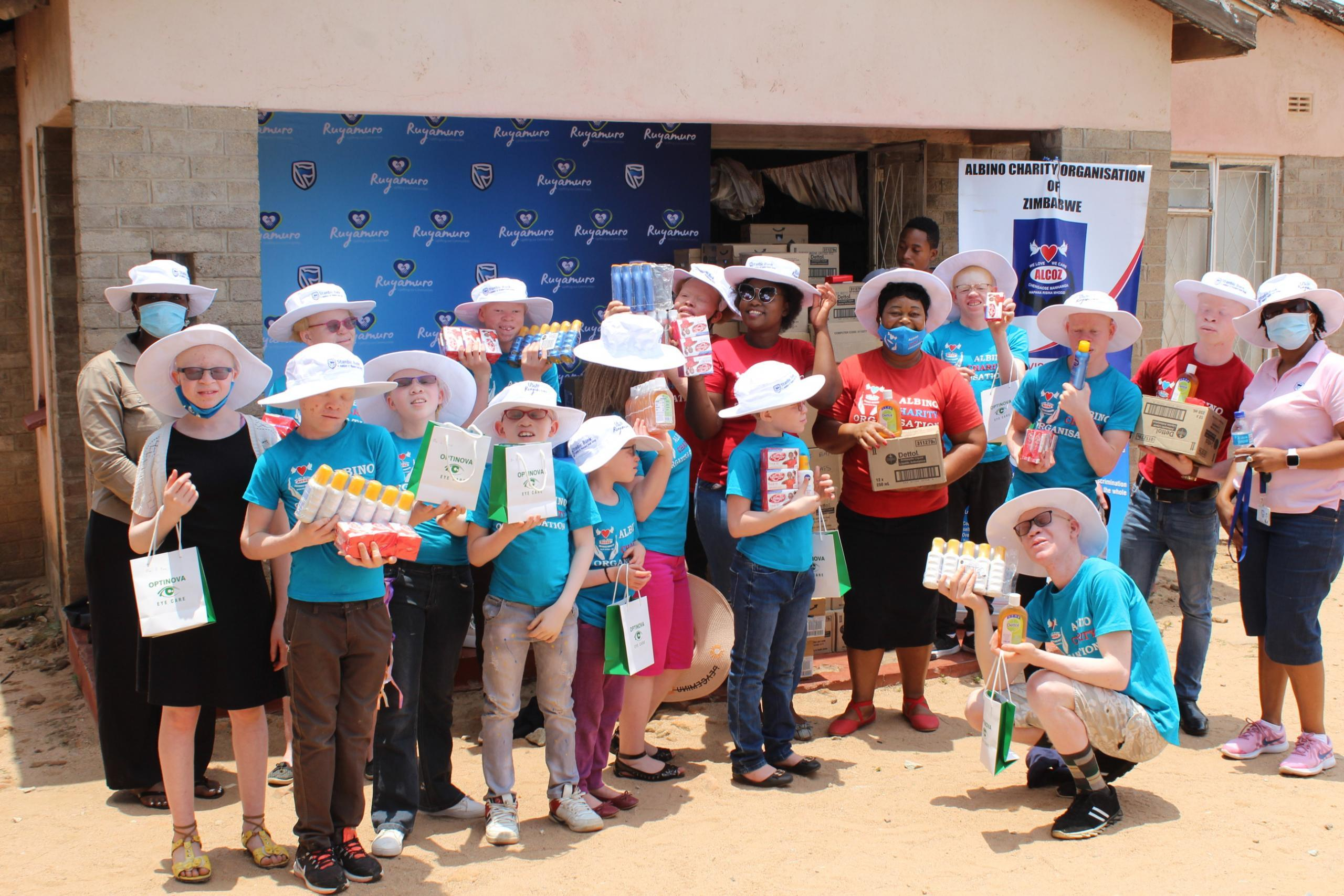 Stanbic Donates US$34k Worth Of Sun Protection Products For People Living With Albinism
