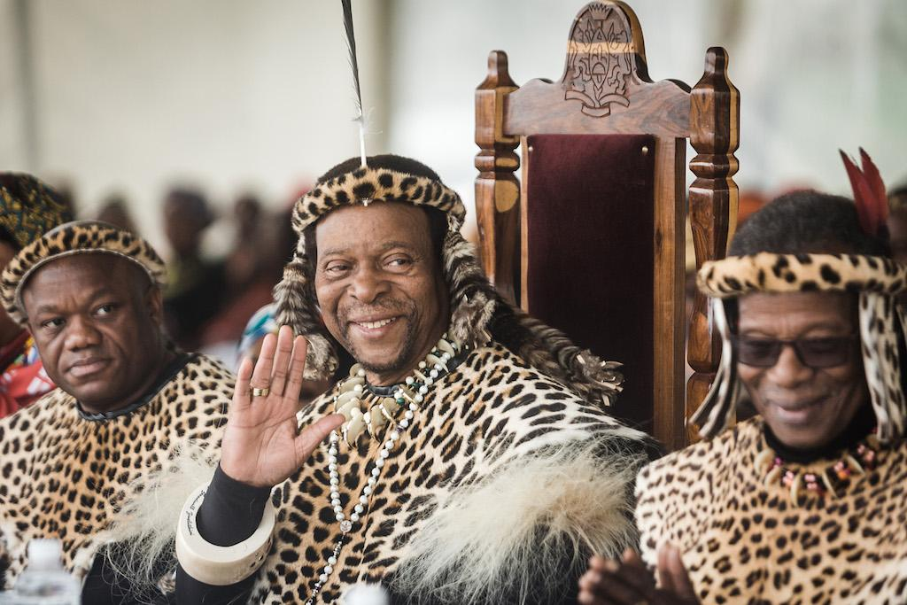 Ramaphosa's Security Destroy Part Of King Zwelithini's Palace Fence To Enable Him To Escape An Angry Mob