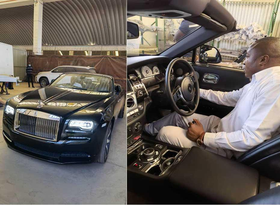 Mnangagwa's Twin Son Takes Delivery Of US$500k Rolls Royce
